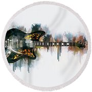 Electric Guitar Round Beach Towel