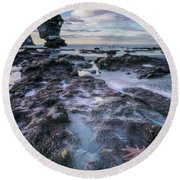 Motukiekie Beach - New Zealand Round Beach Towel