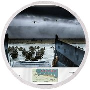 75th Anniversary Of  D-day Round Beach Towel