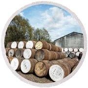 Whisky Distillery Round Beach Towel