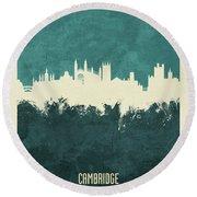 Cambridge England Skyline Round Beach Towel