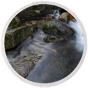 Stream And Rocks Round Beach Towel