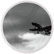 A-10 Slow Pass Round Beach Towel