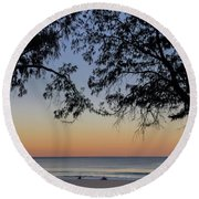 A Beautiful Place To Be Round Beach Towel