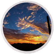 Round Beach Towel featuring the photograph A Blanket Of Many Colors by Rick Furmanek
