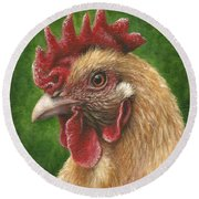 A Chicken For Terry Round Beach Towel