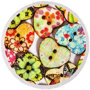 A Craft Of Hearts Round Beach Towel