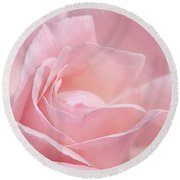 A Delicate Pink Rose Round Beach Towel