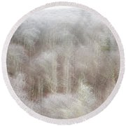 A Ghost Of Trees Round Beach Towel