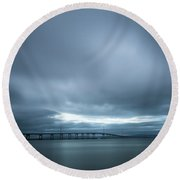 A Hole In The Sky Round Beach Towel