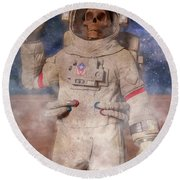 A Lifetime And Beyond Astronaut  Round Beach Towel