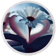 A Little Love And Light In Your Heart Round Beach Towel