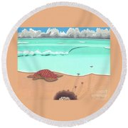 A New Beginning Round Beach Towel