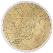 A Plan Of The City Of Philadelphia And Environs, 1808-1811 Round Beach Towel