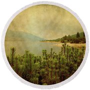 A Quiet Moment Before Storm... Round Beach Towel