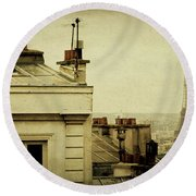 A Room With A View Round Beach Towel