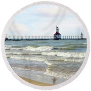 A Time To Remember Round Beach Towel