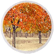 A Touch Of Winter Round Beach Towel