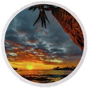 A Typical Wednesday Sunset Round Beach Towel