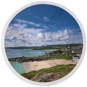 A Walk To Porthgwidden Beach - St Ives Cornwall Round Beach Towel