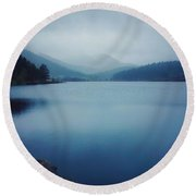 Round Beach Towel featuring the photograph A Washed Landscape by Dan Miller