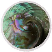 Abalone_shell_9903 Round Beach Towel