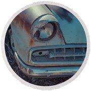 Abandond Old Car Gold King Mine Arizona Round Beach Towel