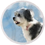 Abby 1 Round Beach Towel