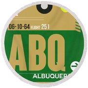 Abq Albuquerque Luggage Tag I Round Beach Towel