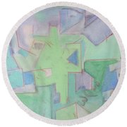 Abstract 3 Round Beach Towel