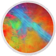 Abstract 51 Round Beach Towel