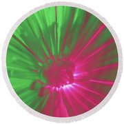 Round Beach Towel featuring the photograph Abstract 701 by Marian Palucci-Lonzetta