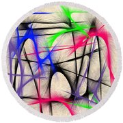 Abstract 901 Round Beach Towel