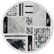 Abstract Collage Round Beach Towel