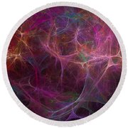 Abstract Colorful Fireworks Round Beach Towel