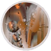 Abstract Copper Round Beach Towel