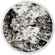 Abstract Expressionism In Nature Round Beach Towel