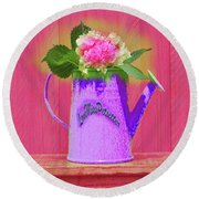Abstract Floral Art 342 Round Beach Towel