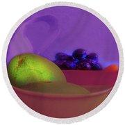 Abstract Fruit Art  109 Round Beach Towel