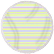 Abstract Horizontal Fresh Lines Background - Dde596 Round Beach Towel