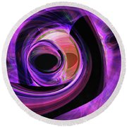 Abstract Rendered Artwork 3 Round Beach Towel