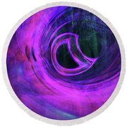 Abstract Rendered Artwork 4 Round Beach Towel
