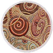 Abstract Spiral 1 Round Beach Towel