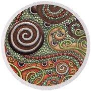 Abstract Spiral 10 Round Beach Towel