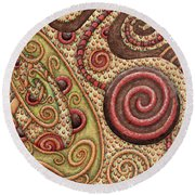 Abstract Spiral 4 Round Beach Towel