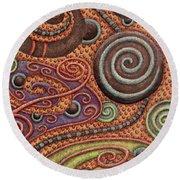Abstract Spiral 5 Round Beach Towel