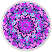Abstract Spun Flower Round Beach Towel