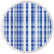 Abstract Squares And Lines Background - Dde609 Round Beach Towel