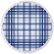 Abstract Squares And Lines Background - Dde611 Round Beach Towel