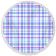 Abstract Squares Background - Dde598 Round Beach Towel